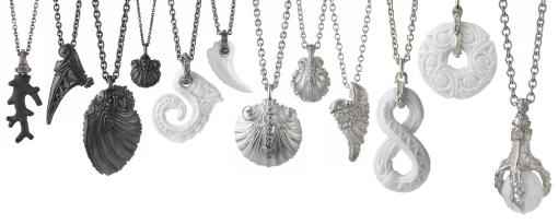 Semi joias de porcelana