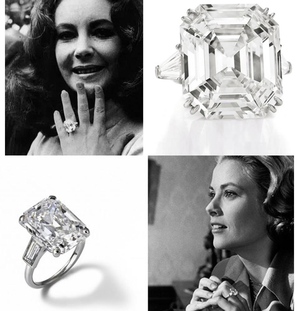 Além de exibir suas belezas, as atrizes faziam questão de exibir seus belos diamantes