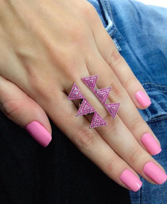 anel geometrico rubi