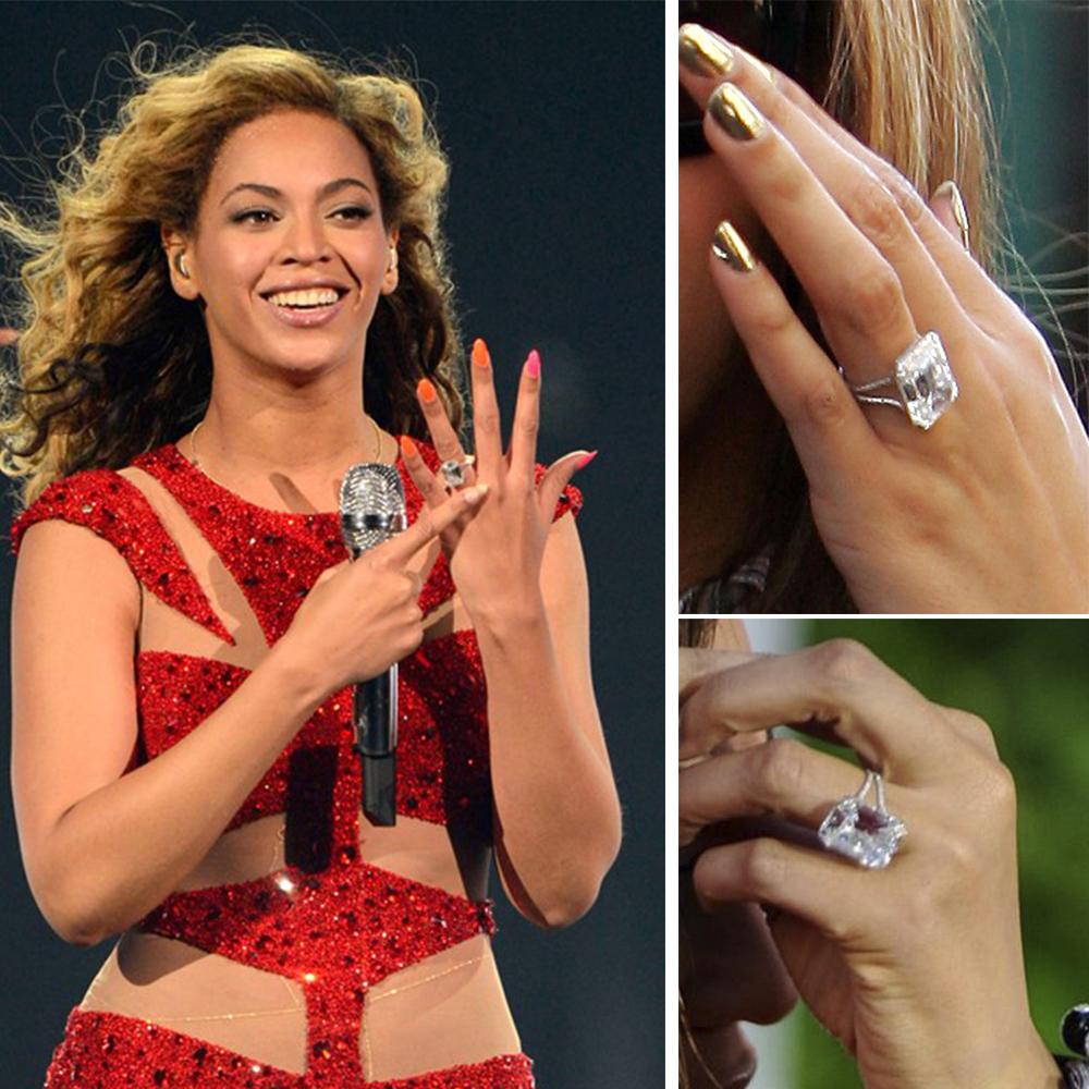 Anel Solitário Beyoncé
