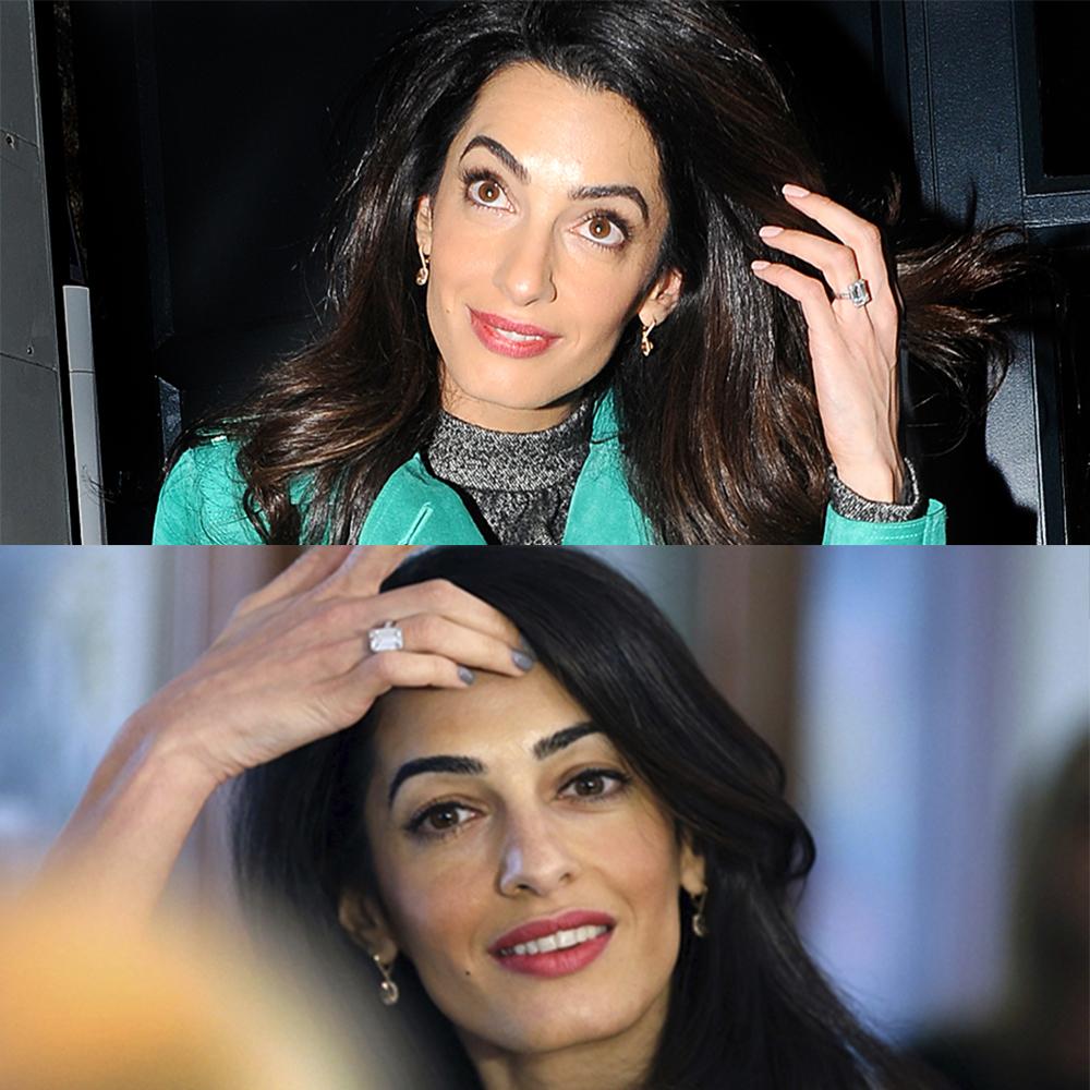 Anel Solitário de Amal Clooney