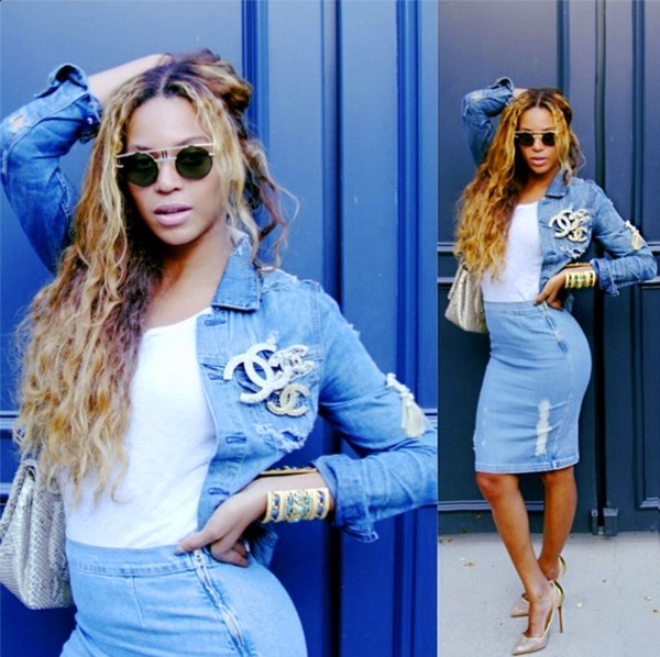 beyonce com broches chanel