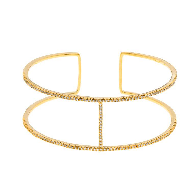 Bracelete Mulberry folheado a ouro 18k