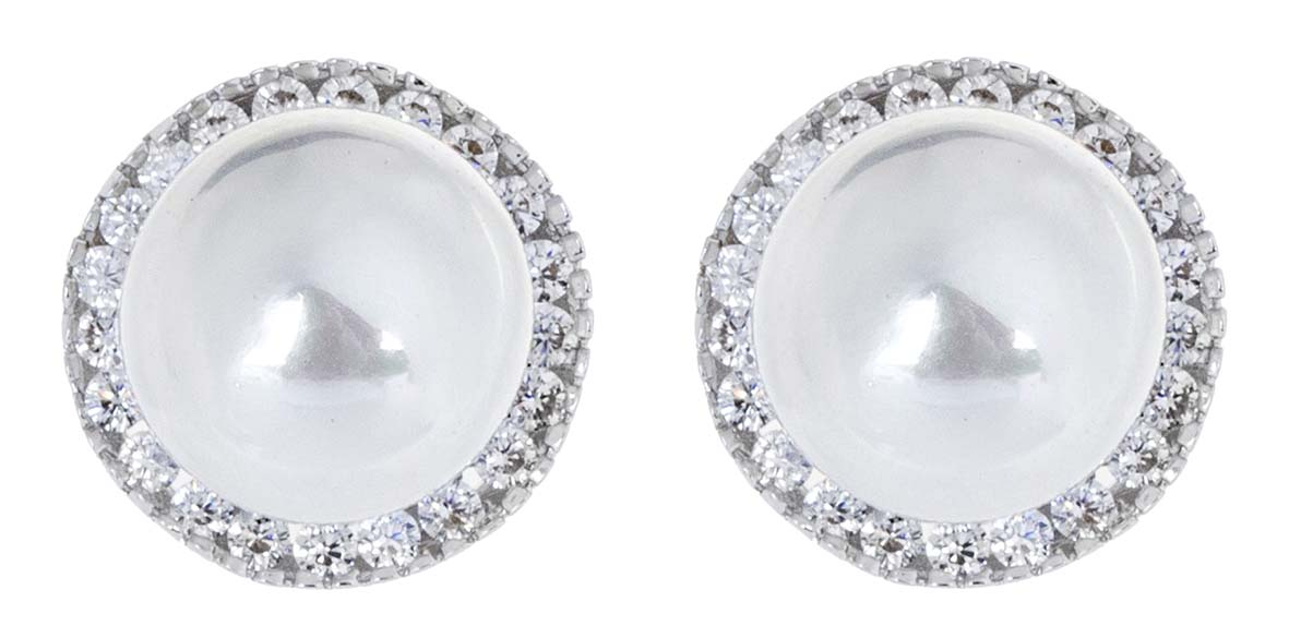 Brinco delicado de pérolas para casamento e noivas semi jóia