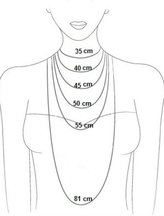 tamanho dos colares