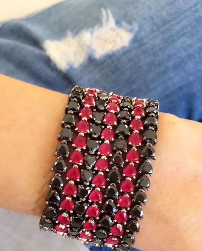 pulseiras rubi coração