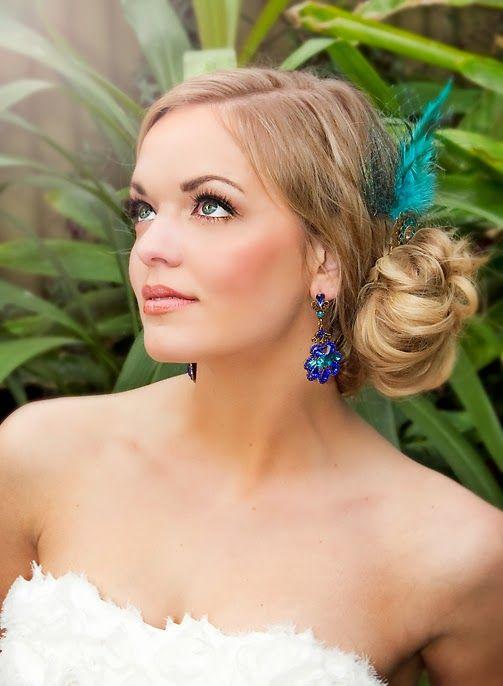 Semi joias para noivas brinco azul
