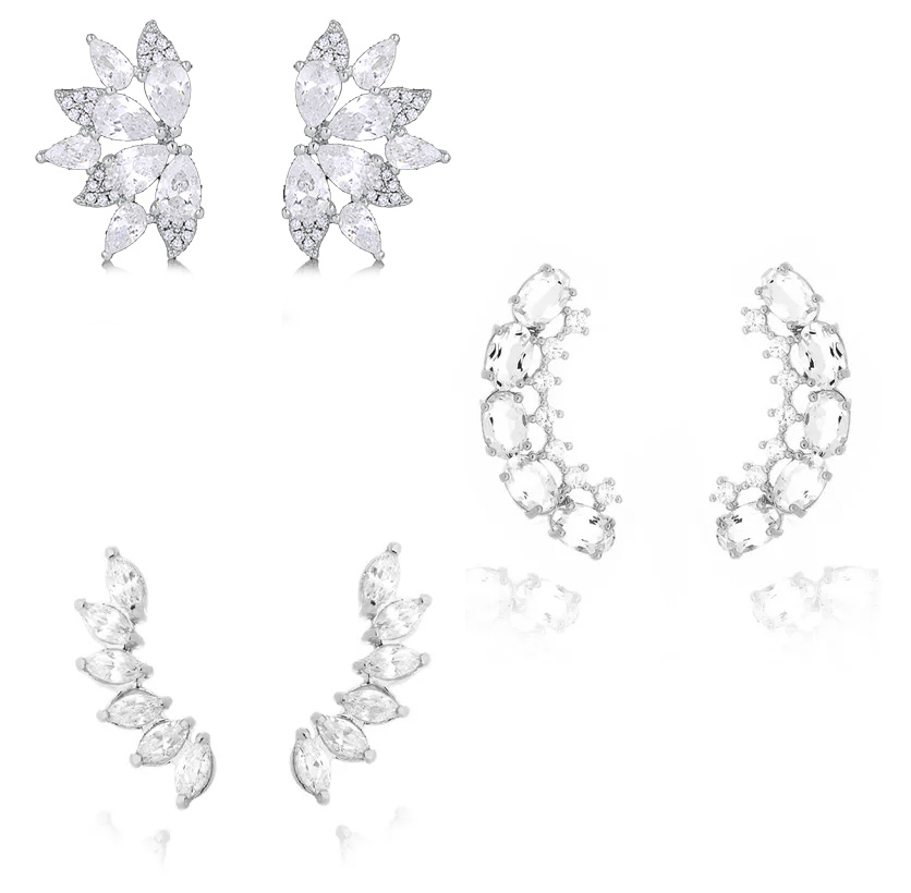 Semijoias para noivas ear-cuffs