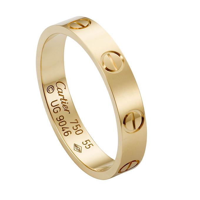 Aliança de ouro da Cartier