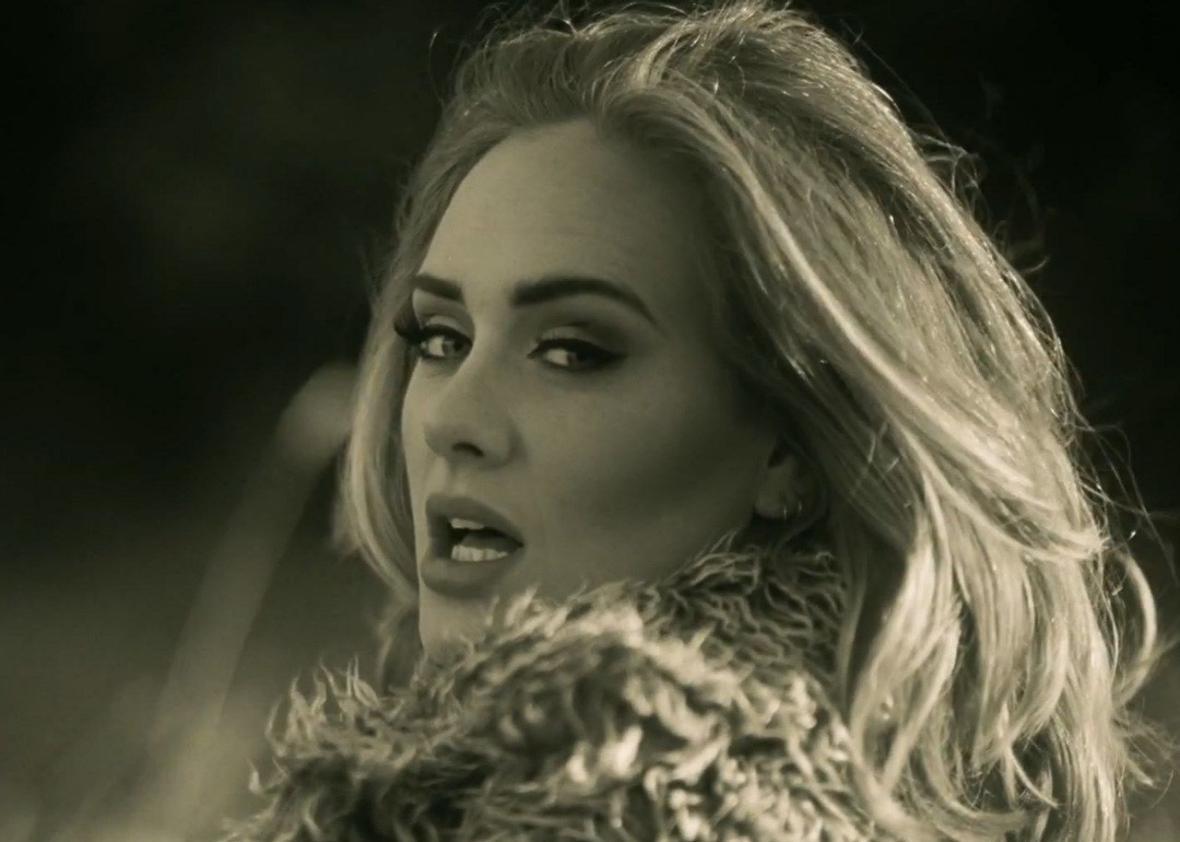 Imagem do novo vídeo Hello de Adele
