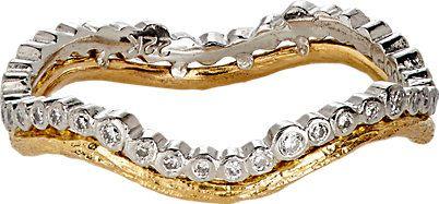 alianca moda dourada prata top100 semijoias