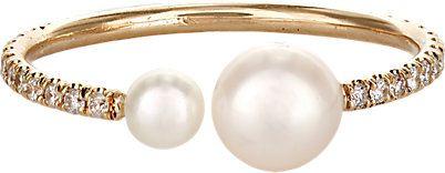 anel ajustavel perolas dourado top100 semijoias
