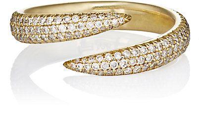 anel garras dourado cravejado zirconias top100 semijoias