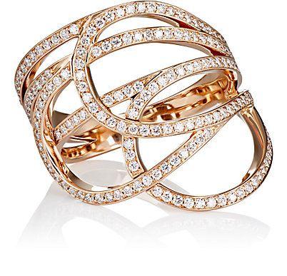 anel luxo dourado cravejado top100 semijoias