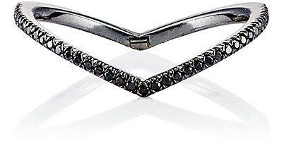 anel minimalista rodio negro top100 semijoias