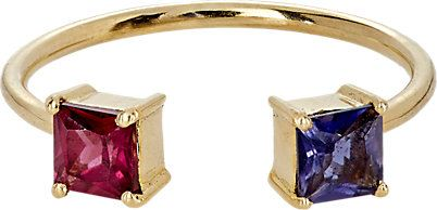 anel rubi safira dourado top100 semijoias