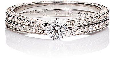 anel solitario duplo prata top100 semijoias