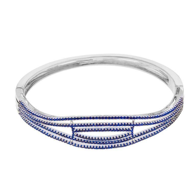 Bracelete semi joia fina azul