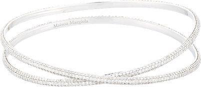 bracelete luxo prata cravejado zirconias top100 semijoias