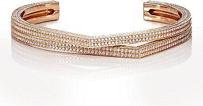 bracelete rigido ouro rose top100 semijoias