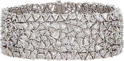 bracelete rigido prata zirconias top100 semijoias