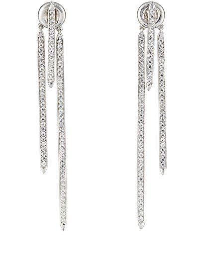 brinco geometrico prata zirconias top100 semijoias