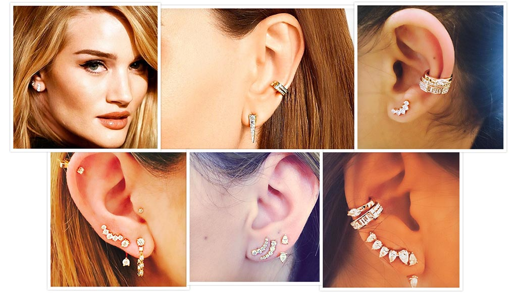 Brincos da moda: ear cuffs, ear jackets e piercings!