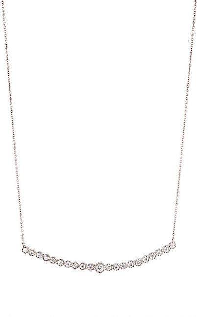 colar geometrico minimalista prata cravejado top100 semijoias
