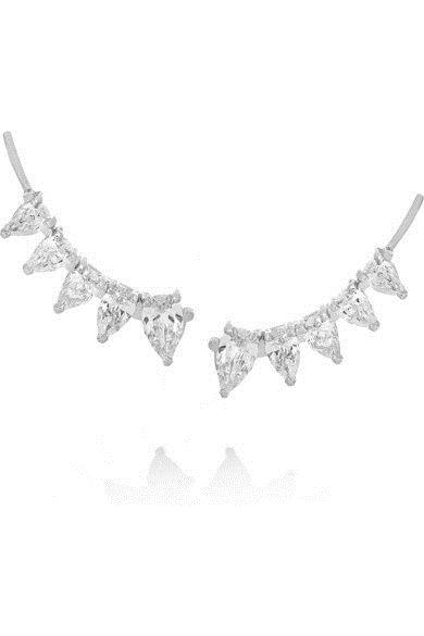 Ear cuff cristal prata top100 semijoias