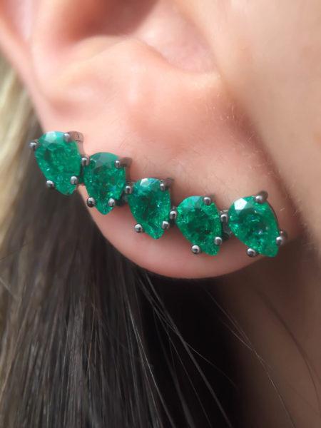 ear cuff esmeralda fusion gotinhas semijoias finas da moda