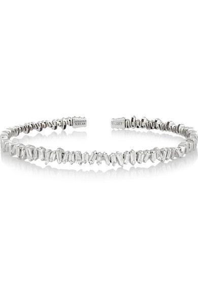 pulseira fina de zirconias baguetadas prata top100 semijoias