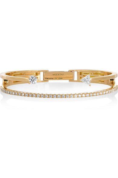 pulseira moda dourada zirconias top100 semijoias