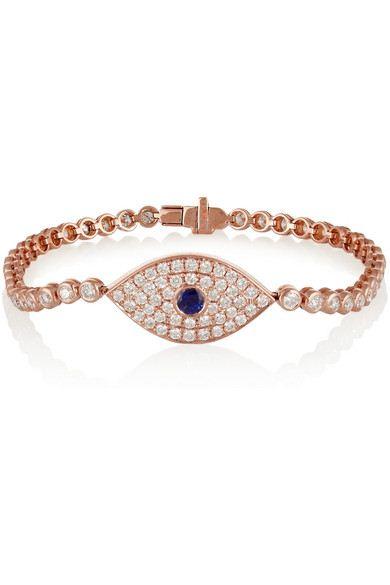 pulseira olho grego ouro rose top100 semijoias