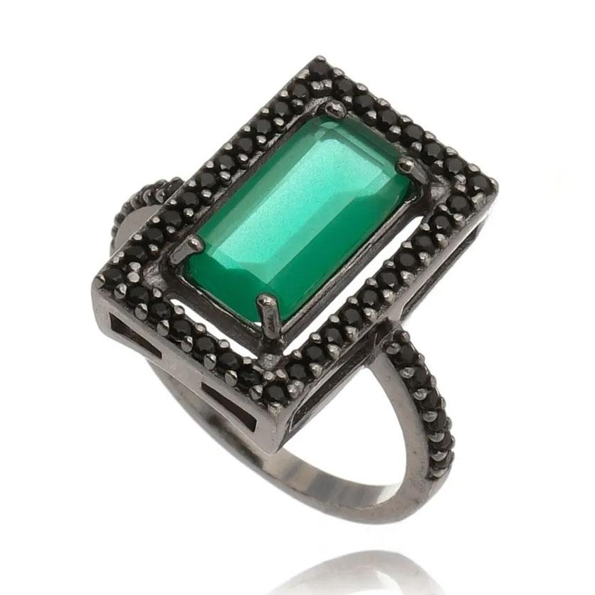 Semijoias Natal anel esmeralda