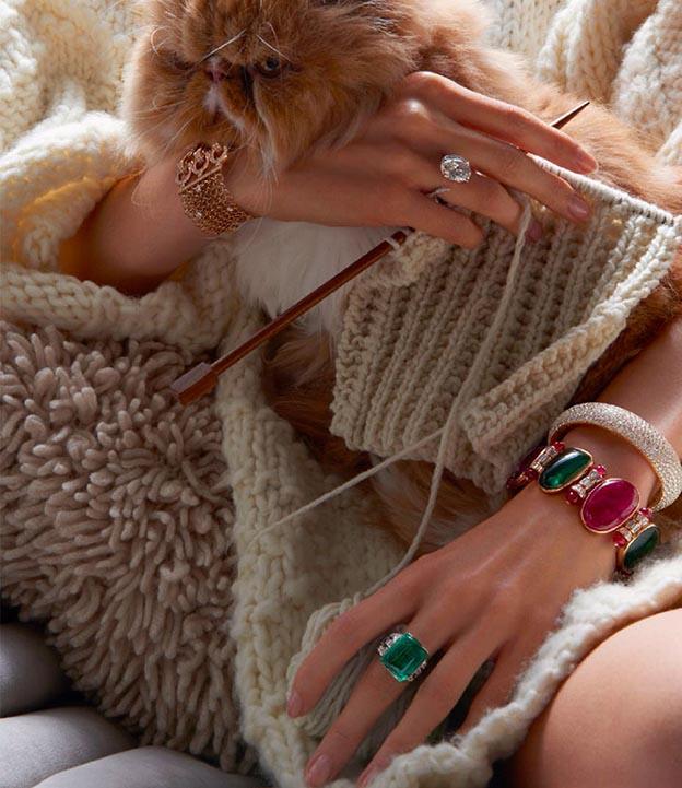 braceletes de luxo coloridos