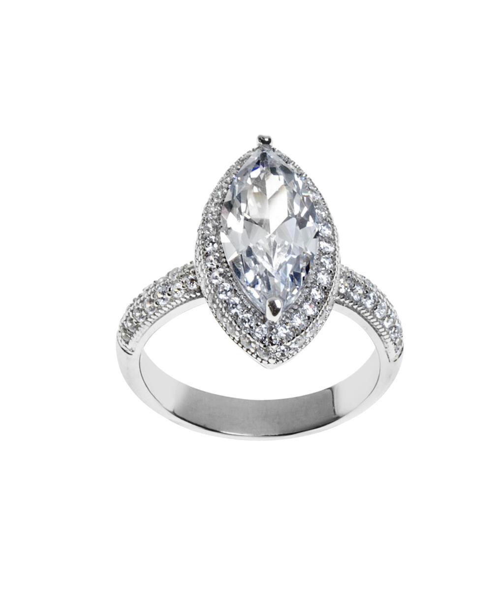 anel zirconia marquesa cristal e prata zirconia semijoia