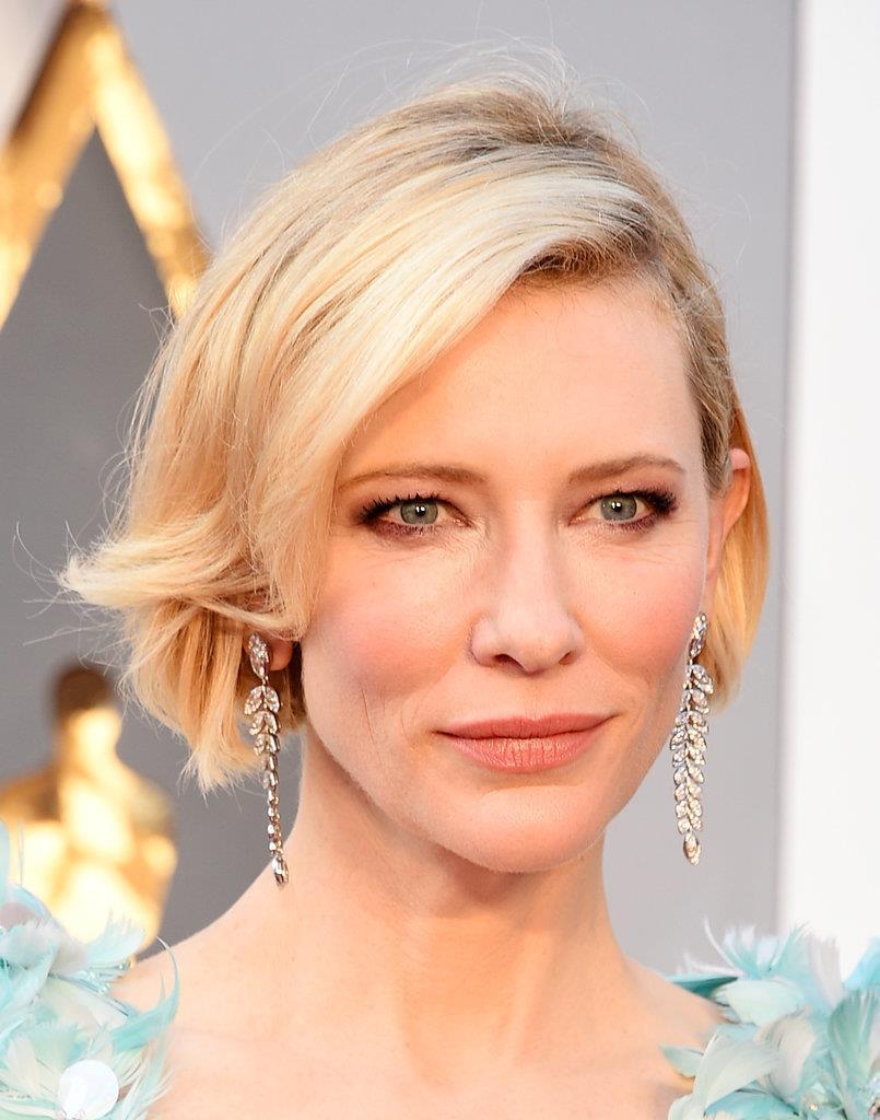 brincos folha Cate Blanchett