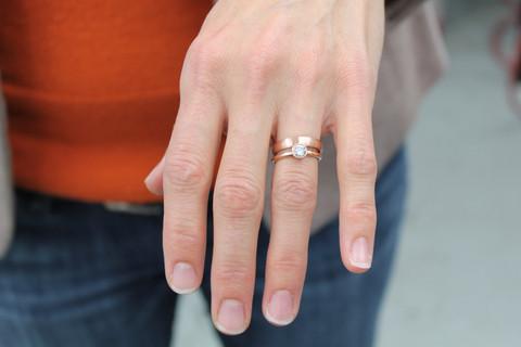 alianca e anel de noivado