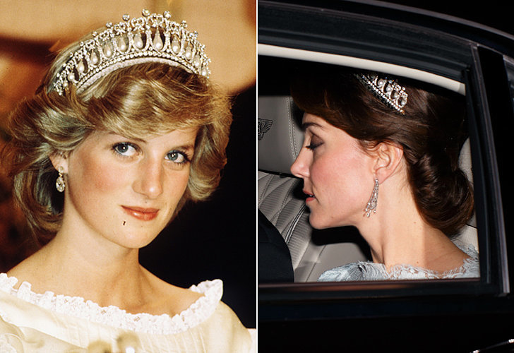 tiara da princesa diana e kate middleton
