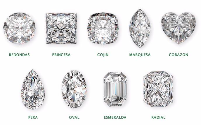 formatos cortes diamante