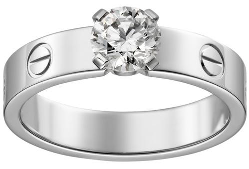 Anéis de noivado Cartier