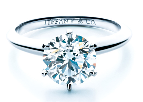 Anéis de noivado Tiffany