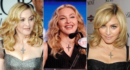Madonna colares de crucifixos