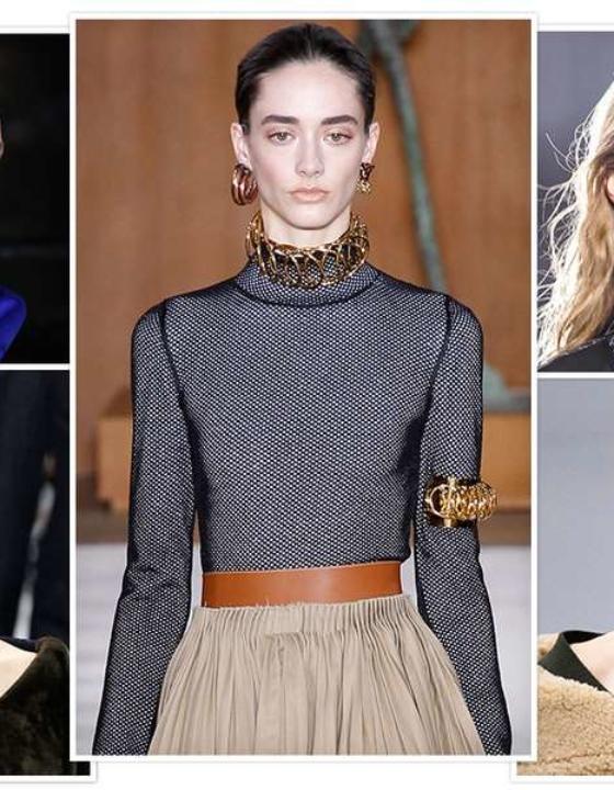 Semi jóias e bijuterias inverno de 2016 da moda