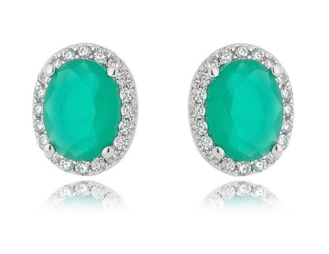 semi joias de esmeralda leitosa