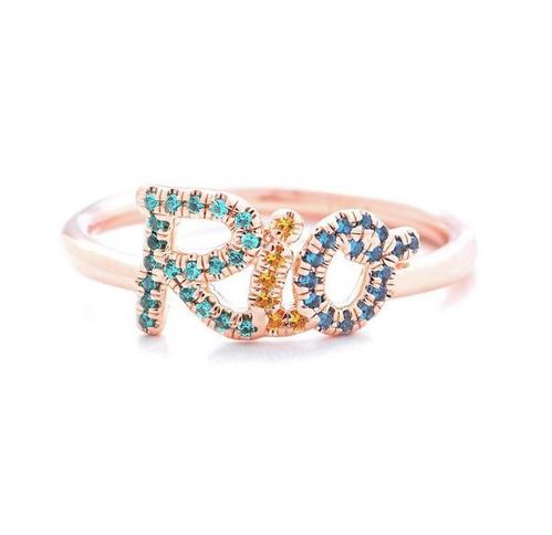 anel escrito rio com zirconias Thea jewelry