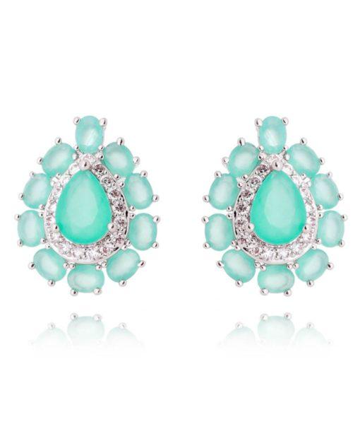 brinco da moda turmalina candy com zirconias cristais e banho de rodio acessórios femininos online