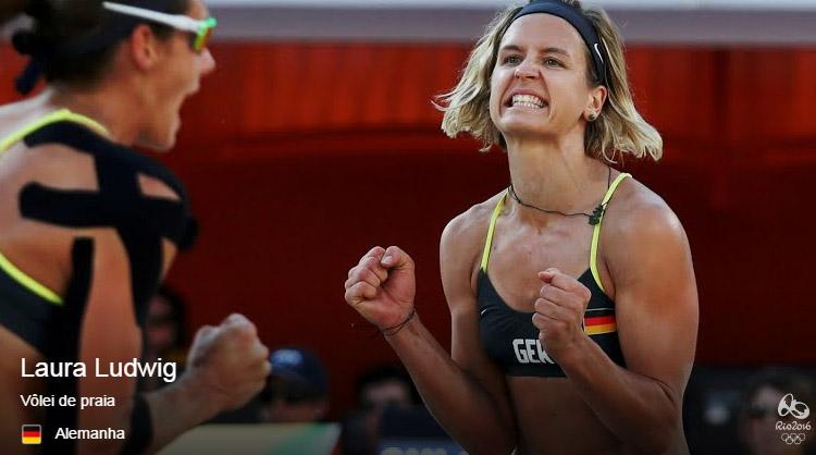 colar atleta olimpiadas laura