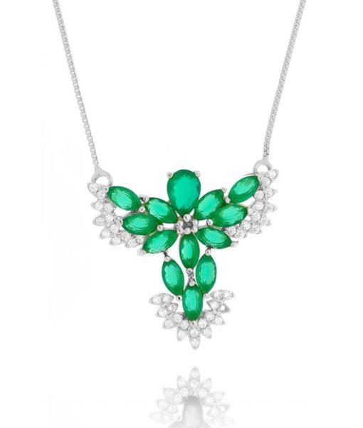 divino espirito santo esmeralda leitosa prata semijoias