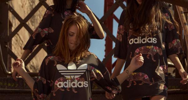 """Coleção """"Onçada"""" da Adidas com a Farm mistura flores com a clássica estampa de onça."""